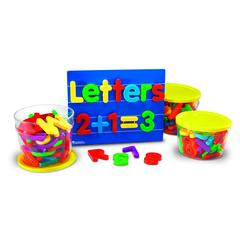 LEARNING RESOURCES JUMBO MAGNETIC COMBO SET 1 EACH 0450-0452