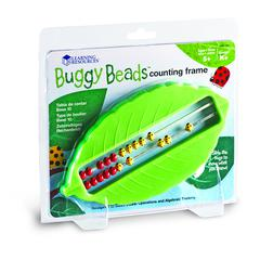 LEARNING RESOURCES BUGGY BEADS COUNTING FRAME SET OF 4