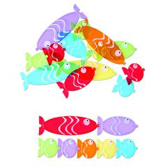LEARNING RESOURCES FISH IN LINE NONSTANDARD MEASUREMENT SET