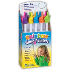 LEARNING RESOURCES RAINBOW HAND POINTERS 10/SET POP DISPLAY