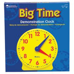 LEARNING RESOURCES BIG TIME CLOCK DEMONSTRATION 12 HR 13-1/4H PLASTIC