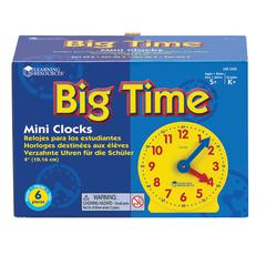 LEARNING RESOURCES EXTRA 4 GEARED MINI-CLOCKS 6/PK
