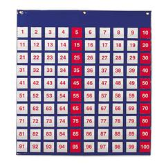 LEARNING RESOURCES POCKET CHART HUNDREDS 26H X 27-1/2