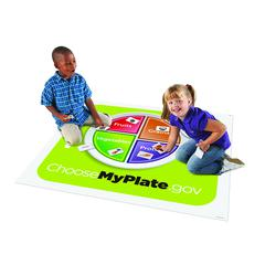 LEARNING RESOURCES HEALTHY HELPINGS A MYPLATE ACTIVITY MAT