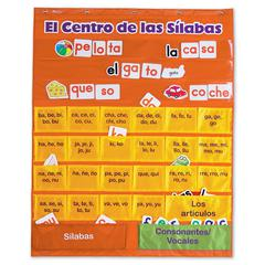 LEARNING RESOURCES SPANISH SYLLABLES PC W/ CARDS CHART