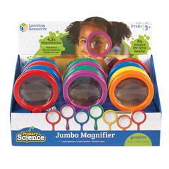 LEARNING RESOURCES JUMBO MAGNIFIER COUNTERTOP 12/SET DISPLAY POP