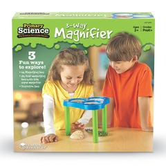 LEARNING RESOURCES 3 WAY MAGNIFICATION SCIENCE STATION