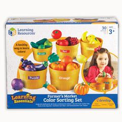 LEARNING RESOURCES FARMERS MARKET COLOR SORTING SET
