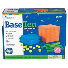 LEARNING RESOURCES BASE TEN STARTER SET BRIGHTS