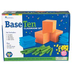 LEARNING RESOURCES BASE TEN CLASS SET BRIGHTS