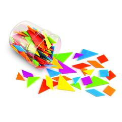 LEARNING RESOURCES CLASSPACK TANGRAMS IN 6 COLORS BRIGHTS