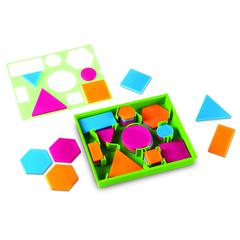LEARNING RESOURCES ATTRIBUTE BLOCKS DESK SET BRIGHTS