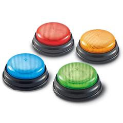 LEARNING RESOURCES LIGHTS AND SOUNDS BUZZERS SET OF 4