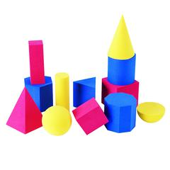 LEARNING RESOURCES HANDS-ON SOFT GEOMETRIC 12/PK SHAPES 2-3 3 COLORS