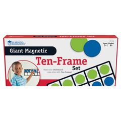 LEARNING RESOURCES GIANT MAGNETIC TEN FRAME SET 4 FRAMES 40 PIECES