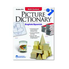 LEARNING RESOURCES MATH CONTENT PICTURE DICTIONARY ENGLISH SPANISH