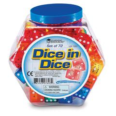 DICE IN DICE BUCKET SET OF 72