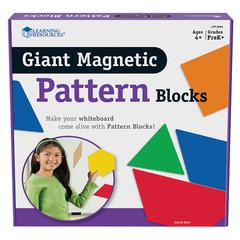LEARNING RESOURCES GIANT MAGNETIC PATTERN BLOCKS SET OF 47