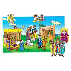 LITTLE FOLKS VISUALS BABY JESUS PRE-CUT FELT SET 17 FIGURES
