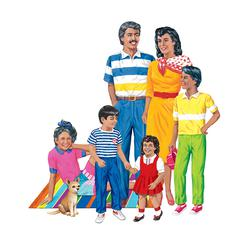 HISPANIC FAMILY FLANNELBOARD SET PRE-CUT