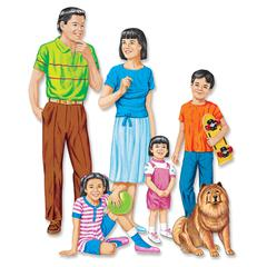 LITTLE FOLKS VISUALS ASIAN FAMILY FLANNELBOARD SET PRE-CUT