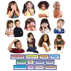LITTLE FOLKS VISUALS EMOTIONS FLANNELBOARD SET 24PK
