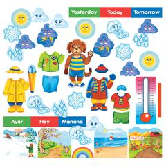 LITTLE FOLKS VISUALS WALLY THE WEATHER DOG FLANNELBOARD SET