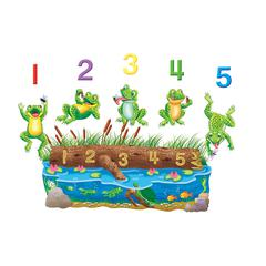 LITTLE FOLKS VISUALS FIVE SPECKLED FROGS FLANNELBOARD SET