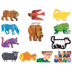 LITTLE FOLKS VISUALS ERIC CARLE BROWN BEAR BROWN BEAR WHAT DO YOU SEE FLANNELBOARD SET