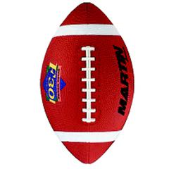 DICK MARTIN SPORTS FOOTBALL JUNIOR BROWN RUBBER NYLON WOUND