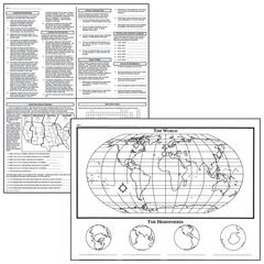ACTIVITY POSTERS BASIC MAP SKILLS 17X22