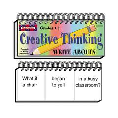 MCDONALD PUBLISHING WRITE-ABOUTS CREATIVE THINKING GR 1-3