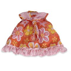 MINILAND EDUCATIONAL BABY DOLL CLOTHES ORANGE FLORAL DRESS