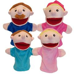 GET READY KIDS FAMILY BIGMOUTH PUPPETS CAUCASIAN FAMILY OF 4