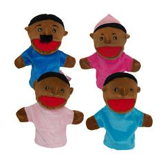 GET READY KIDS FAMILY BIGMOUTH PUPPETS AFRICAN AMERICAN FAMILY OF 4