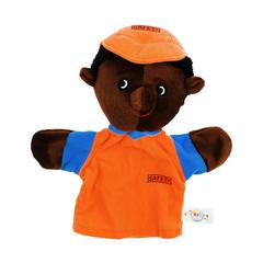 GET READY KIDS PUPPETS MACHINE WASHABLE CONSTRUCTION WORKER