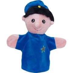 POLICE OFFICER WHITE PUPPET