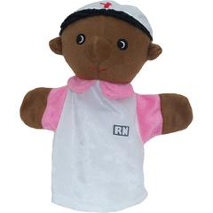 GET READY KIDS BLACK NURSE PUPPET