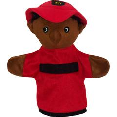 GET READY KIDS BLACK FIREFIGHTER PUPPET