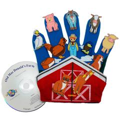 FINGER PLAY FUN GLOVE PUPPETS OLD MACDONALDS FARM