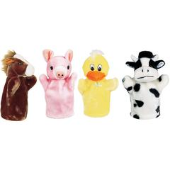 GET READY KIDS FARM PUPPET SET I INCLUDES DUCK PIG HORSE AND COW