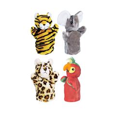 GET READY KIDS ZOO PUPPET SET II INCLUDES ELEPHANT TIGER PARROT AND LEOPARD