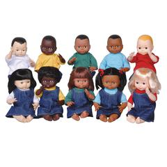 MARVEL EDUCATION DOLLS MULTI-ETHNIC 10-DOLL SCHOOL SET