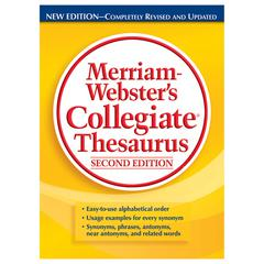 MERRIAM - WEBSTER MERRIAM WEBSTERS COLLEGIATE THESAURUS SECOND EDITION