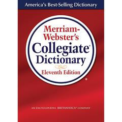 MERRIAM WEBSTERS COLLEGIATE DICTIONARY 11TH ED LAMINATED