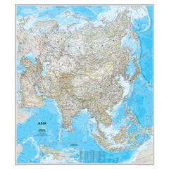 NATIONAL GEOGRAPHIC MAPS ASIA WALL MAP 34 X 38