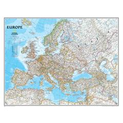 NATIONAL GEOGRAPHIC MAPS EUROPE WALL MAP 30 X 24