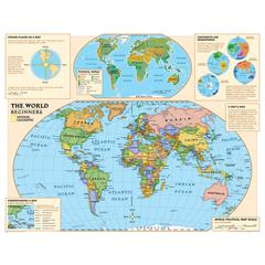 NATIONAL GEOGRAPHIC MAPS BEGINNERS WORLD MAP