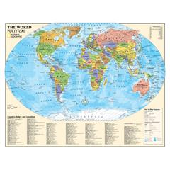 NATIONAL GEOGRAPHIC MAPS KIDS POLITICAL WORLD MAP LAMINATED