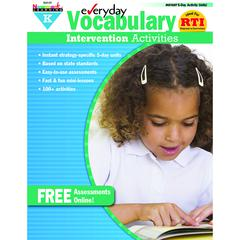 EVERYDAY INTERVENTION ACTIVITIES FOR VOCABULARY GR K